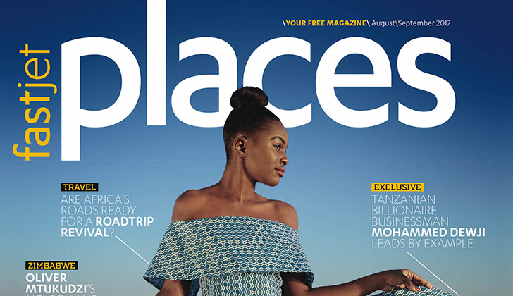 Miss Tourism Zim on fastjet's Magazine cover